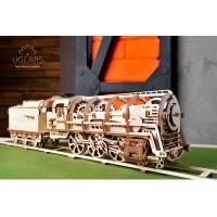 (特價中)烏克蘭UGEARS 木製自我推進模型 - 蒸汽火車頭 Locomotive with Tender