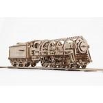 烏克蘭UGEARS 木製自我推進模型 - 蒸汽火車頭 Locomotive with Tender