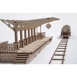 烏克蘭UGEARS 木製自我推進模型 - 車站月台 Railway Platform