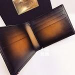 法國 S.T. DUPONT 都彭 六卡 漸層咖啡色 真皮短夾 190200