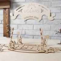 烏克蘭UGEARS 木製自我推進模型 - 鐵軌及平交道 Set of rails