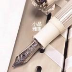 德國 Pelikan 百利金 M605 Souverän 特別版 透明白條 14K金 鋼筆