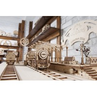 (特價中) 烏克蘭UGEARS 木製自我推進模型 - 車站月台 Railway Platform