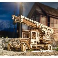 (特價中) 烏克蘭UGEARS 木製自我推進模型 - 消防雲梯車 Fire Ladder Truck (待貨中)