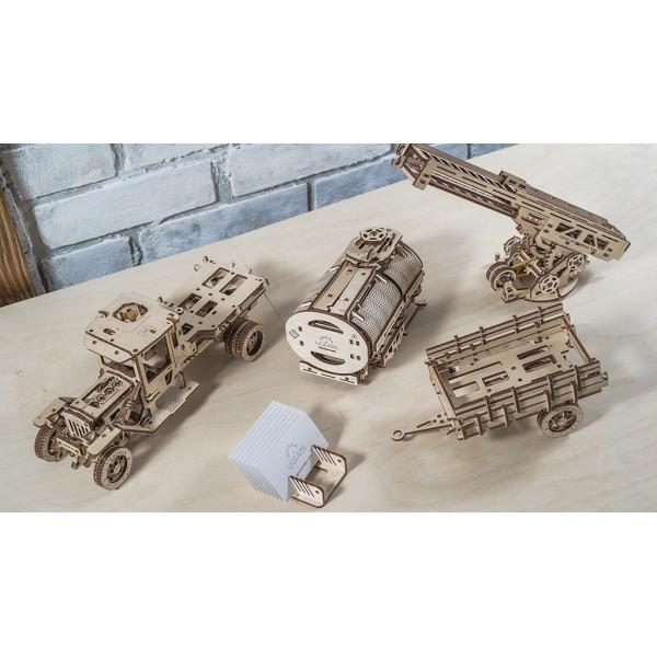 烏克蘭UGEARS 木製自我推進模型 - 卡車改造配件 Set of Additions for UGM-11 Truck model