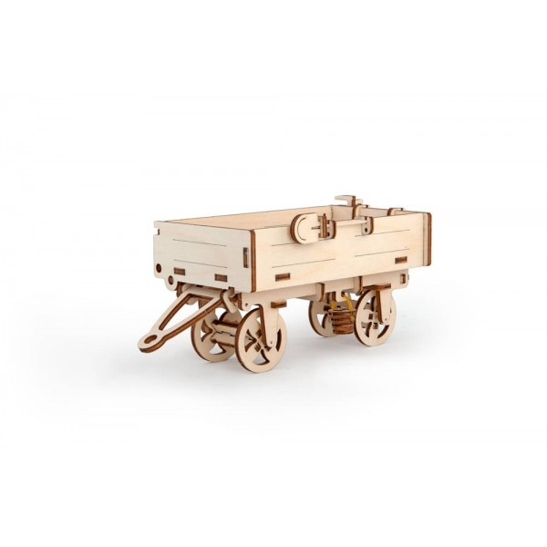 烏克蘭UGEARS 木製自我推進模型 - 拖拉機配件:拖車 Tractor's Trailer