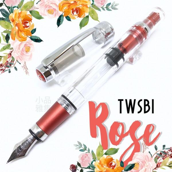 臺灣 TWSBI 三文堂 Diamond #580AL 陽極喜金紅 鋁合金版 透明活塞鋼筆