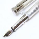 德國 OTTO HUTT 奧托赫特 精工藝 | Design04 直條扭索紋 925純銀 不鏽鋼尖 鋼筆