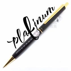 日本PLATINUM 老白金 庫存新品 0.5mm 黑色亮面自動鉛筆