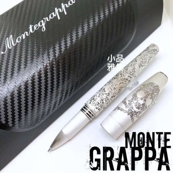 義大利 Montegrappa 萬特佳 Merry Skull - 骷髏系列 鋼珠筆(鍍銀)