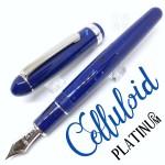 日本 Platinum 白金 #3776 賽璐珞 海洋藍 14k 鋼筆