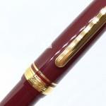 日本 NAGASAWA Redden 酒紅桿金夾 14K 風見雞鋼筆