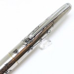 日本 Platinum 白金蝕刻 14K金 鋼筆(竹雞)