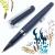 小品雅集 訂製款 霧面絲絨 卡式墨水鋼珠筆(闇夜藍)