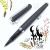 小品雅集 訂製款 霧面絲絨 卡式墨水鋼珠筆(黑)