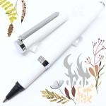 小品雅集 訂製款 霧面絲絨 卡式墨水鋼珠筆(白)