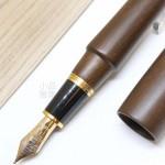 日本 Platinum 白金 出雲 鐵刀木 18K金 鋼筆