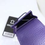 德國 online 小牛皮 二支裝皮質壓紋 筆袋(紫藍色)