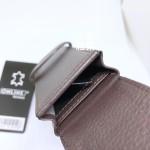 德國 online 小牛皮 二支裝皮質壓紋 筆袋(咖啡色)