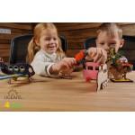 烏克蘭UGEARS 木製自我推進模型 - 4 Kids 益智著色系列 著色喵喵&汪汪 Kitty and Puppy
