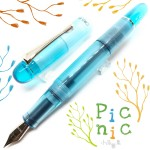 臺灣 OPUS 88 製筆精基 2018春夏新款 PICNIC郊遊系列 正統滴入式 透明示範鋼筆(藍天)