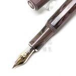 德國 CLEO SKRIBENT 硬橡膠 14k金 活塞鋼筆(紫色)