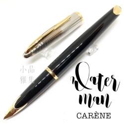 法國Waterman 頂級海洋系列 18k 鋼筆(銀蓋條紋黑桿金夾)