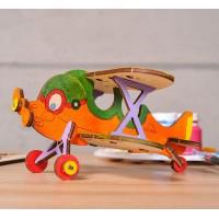 烏克蘭UGEARS 木製自我推進模型 - 4 Kids 益智著色系列 著色螺旋槳飛機 Biplane