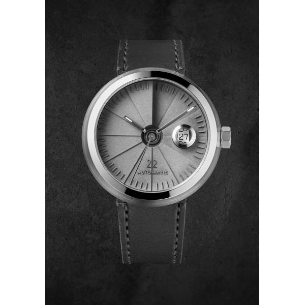 臺灣 二十二 22 Design Studio 四度空間機械錶 淬鍊白鋼款