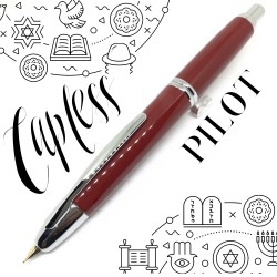 日本 PILOT 百樂 Capless 不鏽鋼尖 鋼筆(紅色銀夾)