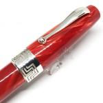 義大利 Montegrappa 萬特佳 Extra 1930 純銀 賽璐珞 18K金 鋼筆(寶石紅)