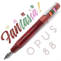 臺灣 OPUS 88 製筆精基 Fantasia 幻想曲 滴入式 短款鋼筆(桃紅色)
