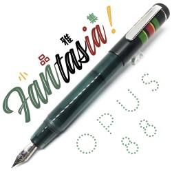 臺灣 OPUS 88 製筆精基 Fantasia 幻想曲 滴入式 短款鋼筆(墨綠色)