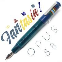 臺灣 OPUS 88 製筆精基 Fantasia 幻想曲 滴入式 短款鋼筆(藍色)