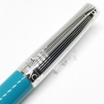 瑞士卡達Caran d'Ache 新款 利曼 亮土耳其藍漆(銀蓋) 18k金鋼筆