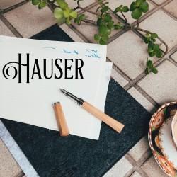 德國 Hauser 經典 原木 鋼筆(白楓木)