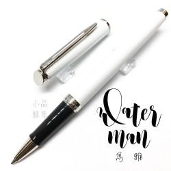 法國 Waterman 雋雅系列 鋼珠筆(白桿白夾)