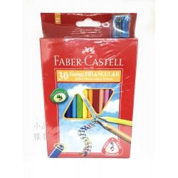 德國 Faber-Castell 輝柏 大三角彩色鉛筆3.3mm-30色(16-116538-30)