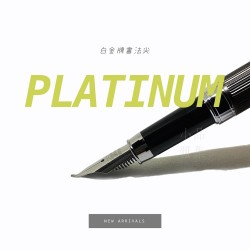 日本 Platinum 白金 PTA-700 金屬條紋書法尖