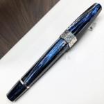 義大利 Montegrappa 萬特佳 EXTRA OTTO 全球限量888支 八角賽璐珞 18K 鋼筆(蝴蝶藍Butterfly Blue)
