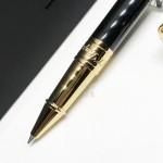 法國 S.T. DUPONT 都彭 D-Initial系列 鋼珠筆(亮黑金夾)