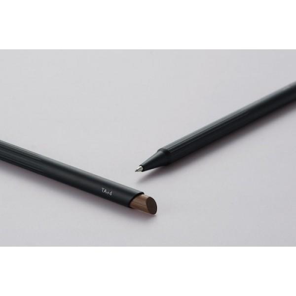 (特價中)TA+d 創夏設計 Fiber| 燻竹0.7mm自動鉛筆(黑色)