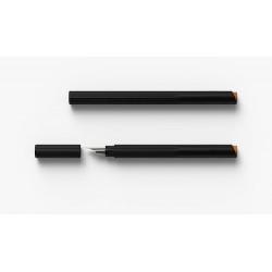 TA+d 創夏設計 Fiber| 燻竹鋼筆(黑色)