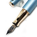 德國 OTTO HUTT 奧托赫特 時尚絨 | Design06 北極藍 鋼筆(玫瑰金夾)