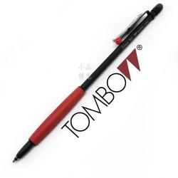 日本 Tombow 蜻蜓牌 Zoom707 手帳式霧黑原子筆(紅點紅握位)