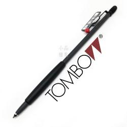 日本 Tombow 蜻蜓牌 Zoom707 手帳式霧黑原子筆(紅點黑握位)