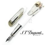 (預購訂製款,下單後約三個月可交貨)法國 S.T. DUPONT 都彭 Speed Machine 疾速引擎 FLAT6 鋼筆(銀色)