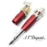 (預購訂製款,下單後約三個月可交貨)法國 S.T. DUPONT 都彭 Speed Machine 疾速引擎 V12 18K 鋼筆(紅色)
