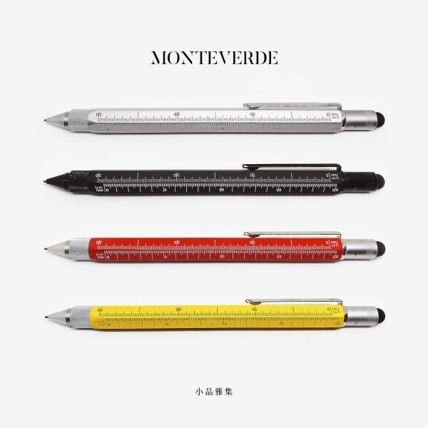 美國 MONTEVERDE 多功能 0.9mm 自動鉛筆(四色可選)