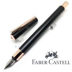 德國 Faber-Castell 輝柏 NEO 黑沙袖珍帝黃金 鋼筆(343101/343102)